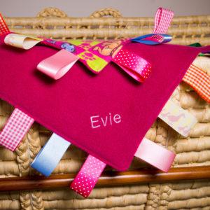 Baby Girl Taggie Blanket