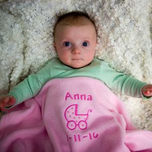 Personalised Baby Girl Blanket