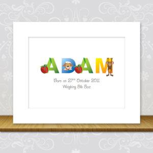 Baby Boy Character Artwork - Adam