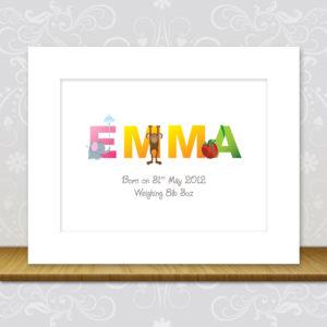 Baby Girl Character Artwork - Emma
