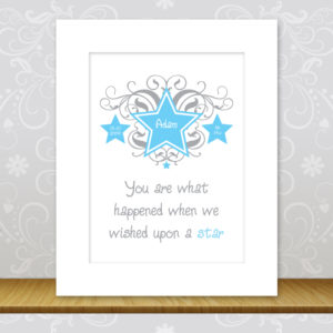 Boys Personalised Star Print - Adam