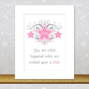 Girls Personalised Star Print - Emma