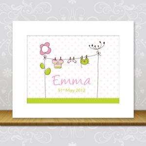 New Baby Girl Wall Art - Emma