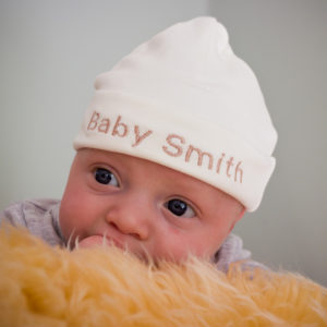 Personalised Newborn Baby Hat