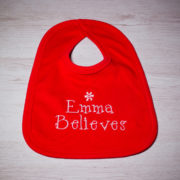 Personalised Christmas Bib Gift Set