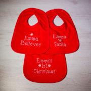 Personalised Christmas Bib Gift Set